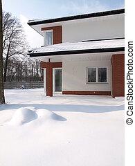 家, 中に, 冬