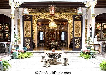 家, 中庭, 中国語, 相続財産
