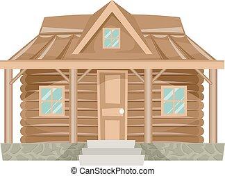 家, 丸太小屋