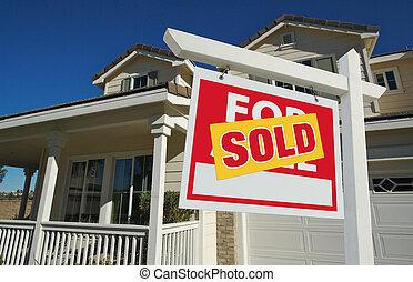 家, 以及, 被賣的 標誌