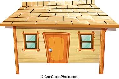 家, 作られた, 木