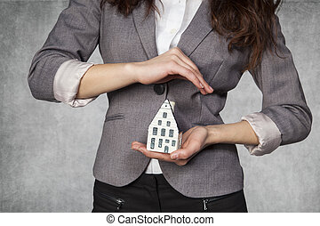 家, 保険, あなたの