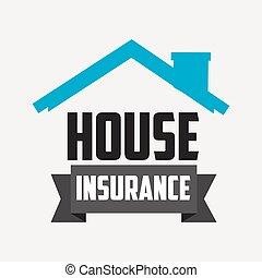 家, 保険, デザイン