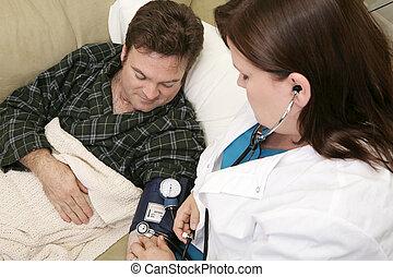 家, 健康, -, 血圧