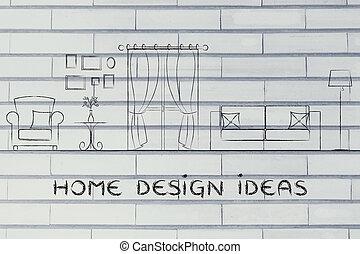 家, 先端, デザイン, 考え