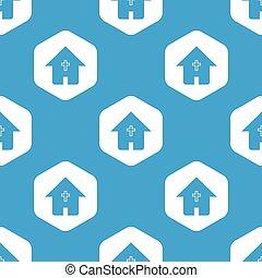 家, 六角形, キリスト教徒, パターン