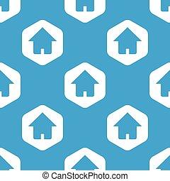 家, 六角形, パターン