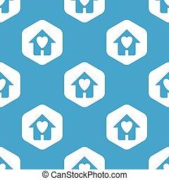 家, 六角形, 最愛の人, パターン