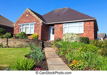 家, 典型的, 庭の英語