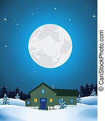 家, 冬の景色