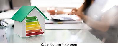 家, 効率, エネルギー, 監査
