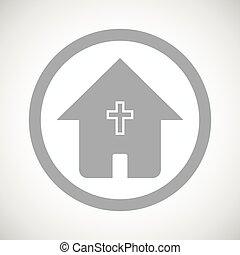 家, 印, キリスト教徒, 灰色, アイコン