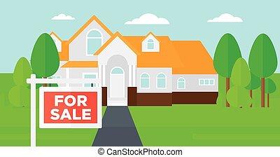 家, 印。, セール, 背景
