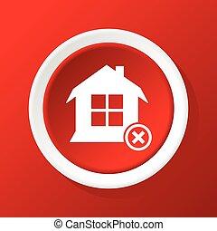 家, 取除きなさい, 赤, アイコン