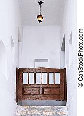 家, 古い, 階段