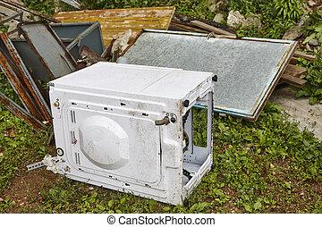 家, 器具, garbage., 無駄, management., 環境, pollution., リサイクル