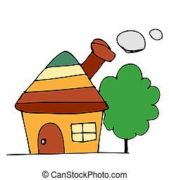 家, 図画