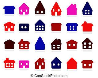 家, 图标, 收集