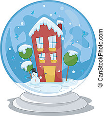 家, 地球, 雪