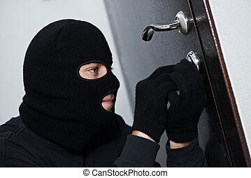 家, 壊れる, 強盗, 泥棒