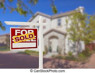 家, 売られた, 販売サイン, 国内戦線, 新しい