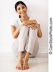 家, 女の子, モデル, indian, 床