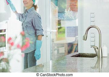 家, 女, 清掃, 義務