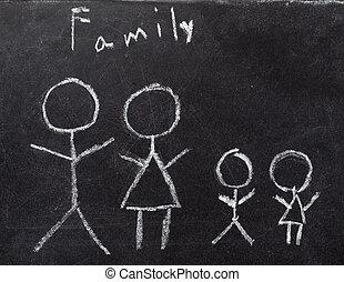 家, 実質, 建設, 黒板, 建築, 家, 財産