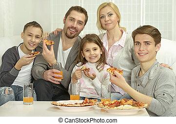 家, 家族, ピザ