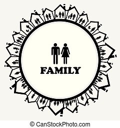 家, 家族, 家族, アイコン
