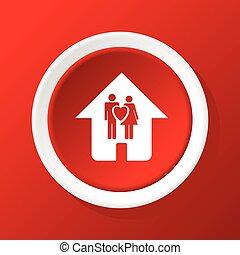 家, 家族, 赤, アイコン