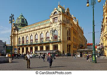 家, 市の, プラハ