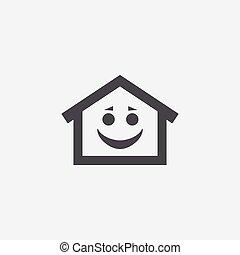 家, 微笑, アイコン