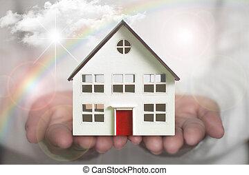 家, 手を持つ