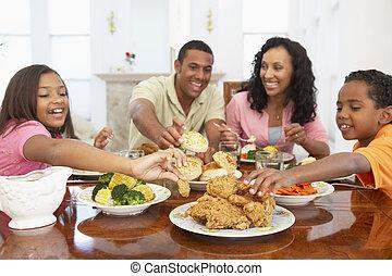 家, 持つこと, 一緒に, 家族の 食事