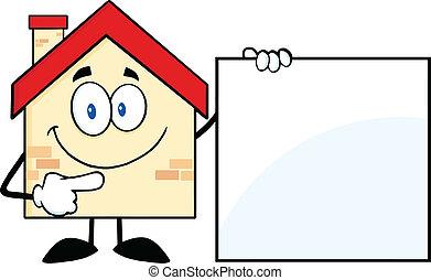 家, 提示, 空白のサイン