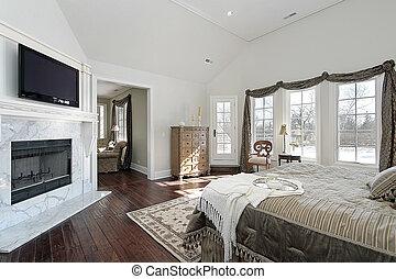 家, 新しい, 建設, マスター, 寝室