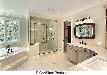 家, 新しい, 建設, マスター, 浴室