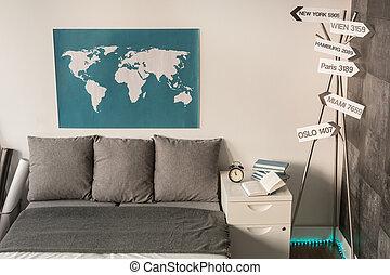 家, 旅行, 所有するため, のまわり, 世界