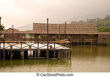 家, 木製の橋