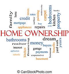 家, 概念, 単語, 所有権, 雲