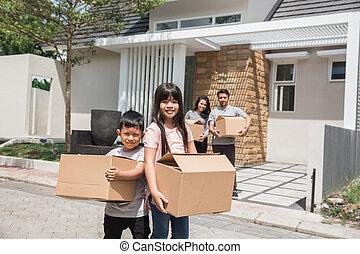 家, 概念, 引っ越し, 新しい