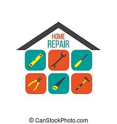 家, 概念, 道具, 修理