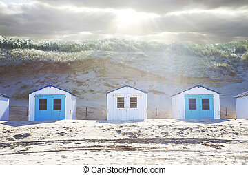 家, 横列, 浜, 典型的, オランダ語