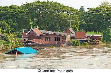 家, 洪水, タイ