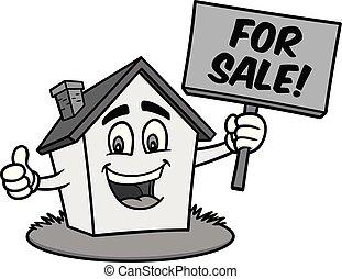 家, 漫画, イラスト, セール