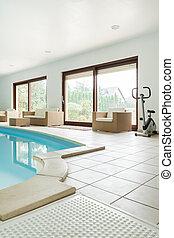 家, 現代, プール, 水泳
