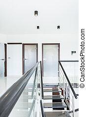 家, 現代, 設計された, 階段