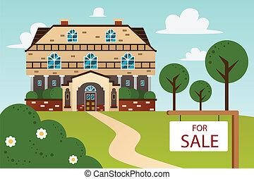 家, 現代, 販売サイン
