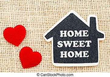 家, 甜, home.
